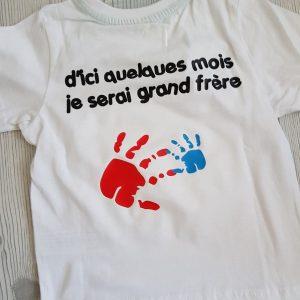Tee-Shirt Bientôt Grand Frère/Soeur
