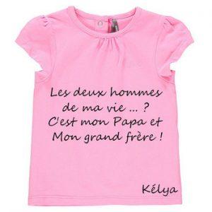 Tee shirt » les hommes de ma vie»