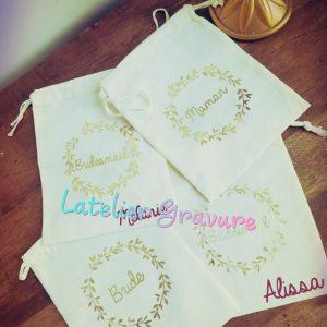 Petit sac en coton Cadeau de mariage