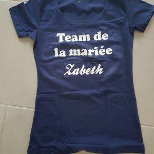 Tee-shirt enterrement vie de jeune fille