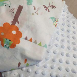 Couverture bébé blanche Création mains