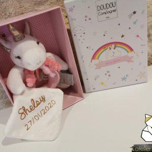 Coffret de naissance Doudou & Compagnie Licorne