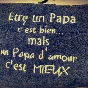 Serviette de bain Papa D'amour