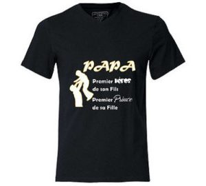 Tee-shirt homme Papa Héros