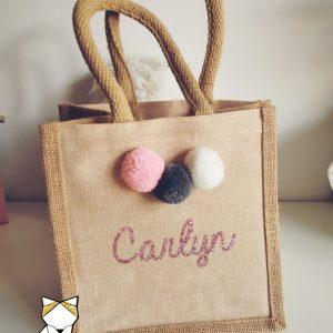 Mini sac Coton et toile de jute à personnaliser