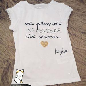 Tee-shirt Ma première influences c'est maman