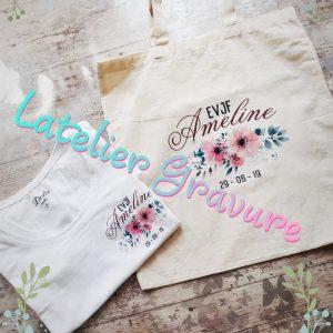 Tote bag EVJF personnalisé – Pack de la mariée – T-shirt EVJF – Cadeau mariée