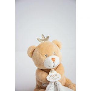 Doudou Ours petit roi avec doudou à personnaliser