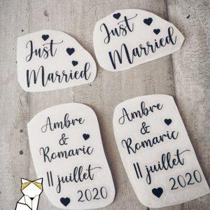 Stickers chaussures de mariage personnalisé