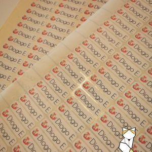 Planche étiquettes thermocollantes personnalisées