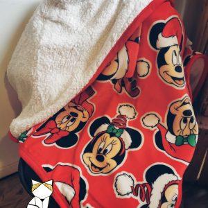 Jeté de lit – Plaid polaire – Couverture Sherpa Disney personnalisée