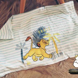 Couverture d'enfant le roi lion personnalisée