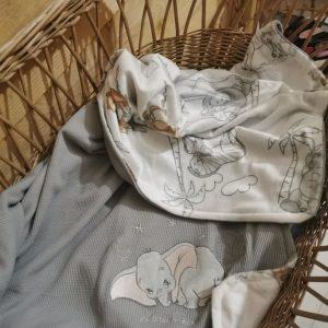 Couverture d'enfant Dumbo disney personnalisée