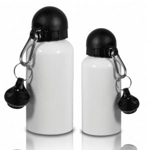 Gourde aluminium blanche à personnaliser
