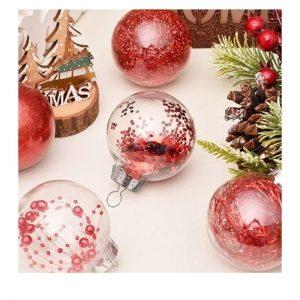 Boule de Noel transparentes à personnaliser