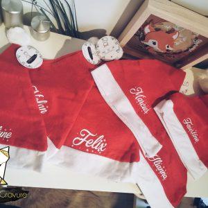 Bonnet de Noël rouge à pompon pour enfant