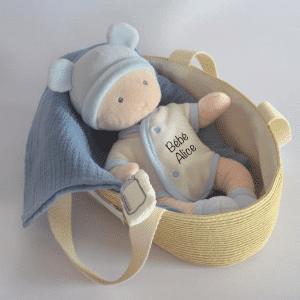 Le Poupon de Doudou Bleu personnalisé – Doudou et compagnie