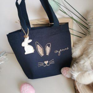 Mini sac personnalisé – Lapin de pâques