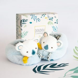 Chausson Hochet Yoca le koala – Doudou & compagnie