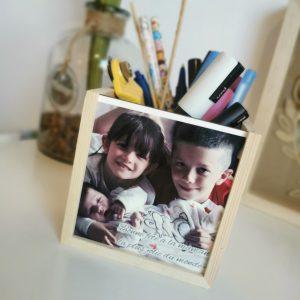 Pot à crayons en bois personnalisé