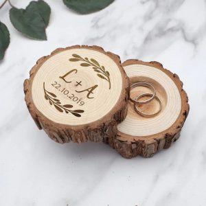 Porte alliance rondin de bois personnalisé