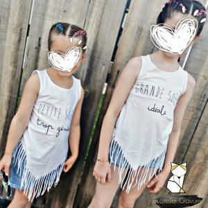 T-shirt Pocahontas Blanc Soeur