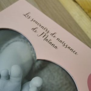 Boite à souvenirs de naissance personnalisée