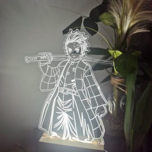 Lampe personnalisée sur socle led  – Création sur mesure